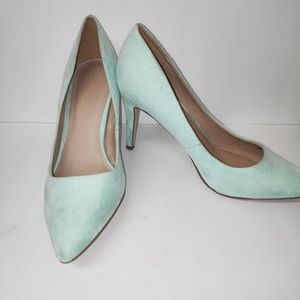 ASOS Mint Green Suede Pointy Toe Pump